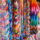 Kleurrijke origami bij een tempel in Japan stock foto