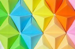 Kleurrijke origamiachtergrond royalty-vrije stock foto