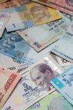 Kleurrijke oude het bankbiljetachtergrond van het Wereldpapiergeld Stock Foto's