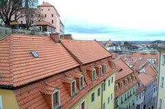Kleurrijke oude stad Duitsland Stock Afbeeldingen