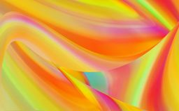 Kleurrijke overlappende krommen stock afbeelding