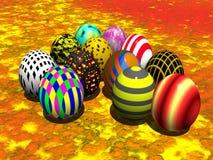 Kleurrijke paaseieren stock afbeeldingen