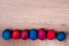 Kleurrijke paaseieren, Stock Afbeeldingen