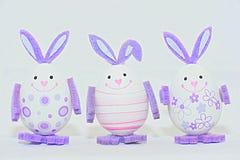 Kleurrijke paaseieren - konijntjesdecoratie Stock Fotografie