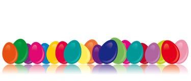 Kleurrijke paaseieren - Vectorbeeld Stock Afbeeldingen