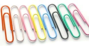 Kleurrijke Paperclip Stock Afbeeldingen