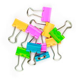 Kleurrijke paperclippen Stock Afbeelding