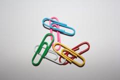 Kleurrijke paperclips Stock Foto
