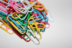 Kleurrijke paperclips Royalty-vrije Stock Afbeelding