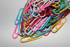 Kleurrijke paperclips Royalty-vrije Stock Foto