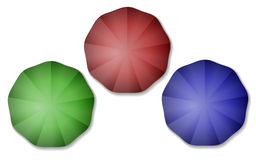 Kleurrijke paraplu's Stock Foto
