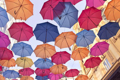 Kleurrijke paraplu's Royalty-vrije Stock Fotografie