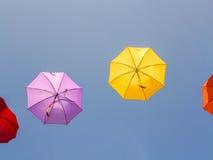 Kleurrijke paraplu's Royalty-vrije Stock Afbeeldingen