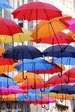 Kleurrijke paraplu's Royalty-vrije Stock Foto's