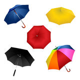 Kleurrijke paraplu's stock illustratie