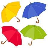Kleurrijke paraplu's vectorinzameling stock illustratie