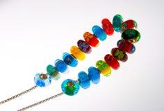 Kleurrijke parelhalsband Stock Foto