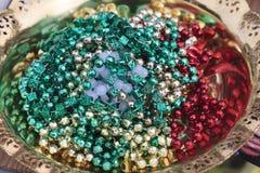 Kleurrijke parels Stock Foto