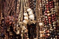 Kleurrijke parels van hout Royalty-vrije Stock Afbeelding