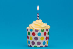 Kleurrijke Partij Cupcake Stock Foto