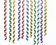 Kleurrijke partijwimpels die op wit worden geïsoleerdt Stock Afbeelding