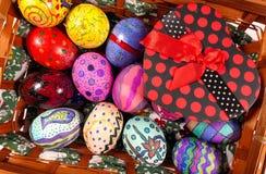 Kleurrijke Pasen Paschal Eggs Celebration royalty-vrije stock afbeeldingen