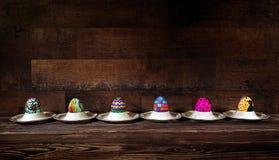 Kleurrijke Pasen Paschal Eggs Celebration royalty-vrije stock afbeelding