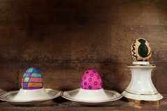 Kleurrijke Pasen Paschal Eggs Celebration stock foto's