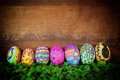 Kleurrijke Pasen Paschal Eggs Celebration royalty-vrije stock foto