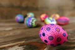 Kleurrijke Pasen Paschal Eggs Celebration stock afbeeldingen