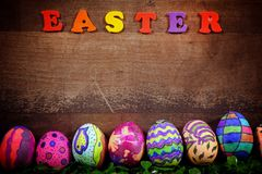 Kleurrijke Pasen Paschal Eggs Celebration stock foto