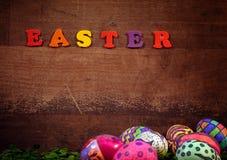 Kleurrijke Pasen Paschal Eggs Celebration royalty-vrije stock foto's