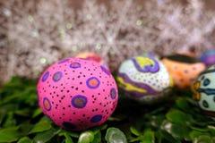 Kleurrijke Pasen Paschal Eggs Celebration stock afbeelding