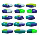 Kleurrijke pasteipraatjes Stock Foto
