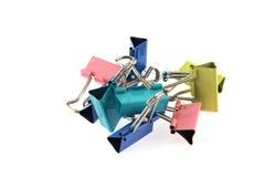 Kleurrijke pastelkleur dubbele klem Stock Afbeelding