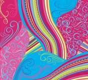 Kleurrijke patronen als achtergrond Stock Afbeelding