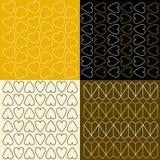 Kleurrijke patronen met harten Royalty-vrije Stock Foto's