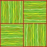 Kleurrijke patronen met onregelmatige lijnen Stock Afbeelding