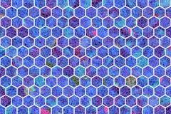 Kleurrijke patroon hexagon strook, achtergrond of textuur voor ontwerp royalty-vrije stock foto's