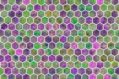 Kleurrijke patroon hexagon strook, achtergrond of textuur voor ontwerp stock foto's