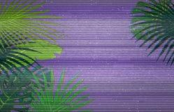 Kleurrijke patroonillustratie van palmbladen stock illustratie