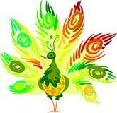 Kleurrijke pauw Stock Afbeeldingen