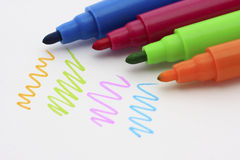 Kleurrijke pen royalty-vrije stock foto's