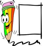 Kleurrijke pen met plaats voor uw tekst Stock Foto's