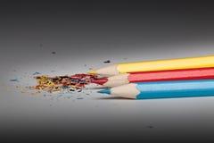 Kleurrijke pennen Royalty-vrije Stock Afbeeldingen