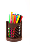 Kleurrijke Pennen Stock Fotografie