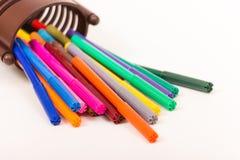 Kleurrijke Pennen Stock Afbeeldingen