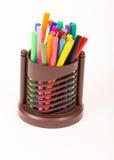 Kleurrijke Pennen Stock Foto's