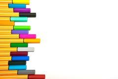 Kleurrijke pennen op geïsoleerd Royalty-vrije Stock Fotografie