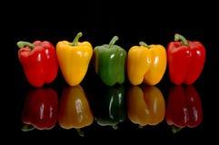 Kleurrijke peper stock foto